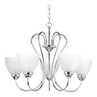 Heart 5 Light 25 inch Polished Chrome Chandelier Ceiling Light