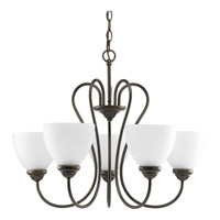 Progress Lighting Heart 5 Light Chandelier in Antique Bronze P4666-20