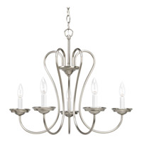Progress Lighting Heart 5 Light Chandelier in Brushed Nickel P4667-09