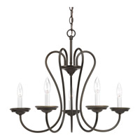 Progress Lighting Heart 5 Light Chandelier in Antique Bronze P4667-20