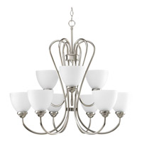 Progress Lighting Heart 9 Light Chandelier in Brushed Nickel P4668-09