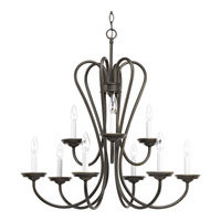 Progress Lighting Heart 9 Light Chandelier in Antique Bronze P4669-20