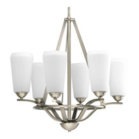 Progress Lighting Moments 6 Light Chandelier in Antique Nickel P4671-81