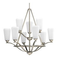 Progress Lighting Moments 9 Light Chandelier in Antique Nickel P4672-81