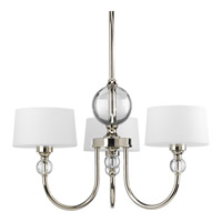 Progress Lighting Fortune 3 Light Chandelier in Polished Nickel P4673-104