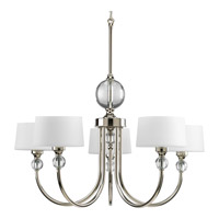 Progress Lighting Fortune 5 Light Chandelier in Polished Nickel P4674-104