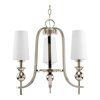 Progress Lighting LadyLuck 3 Light Chandelier in Polished Nickel P4676-104