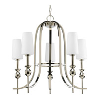 Progress Lighting LadyLuck 5 Light Chandelier in Polished Nickel P4677-104