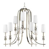 Progress Lighting LadyLuck 9 Light Chandelier in Polished Nickel P4678-104