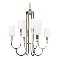 Splendid 8 Light 27 inch Brushed Nickel Chandelier Ceiling Light