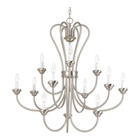 Progress Lighting Heart 12 Light Chandelier in Brushed Nickel P4686-09
