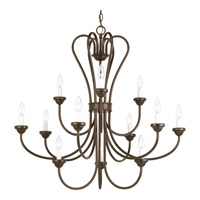 Heart 12 Light 36 inch Antique Bronze Chandelier Ceiling Light