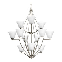 Progress Lighting Bravo 12 Light Chandelier in Brushed Nickel P4687-09