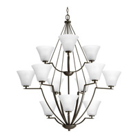 Progress Lighting Bravo 12 Light Chandelier in Antique Bronze with Etched Glass P4687-20W