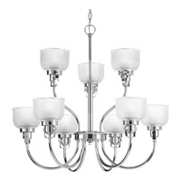 Progress Lighting Archie 9 Light Chandelier in Chrome P4690-15