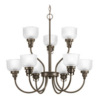 Progress Lighting Archie 9 Light Chandelier in Venetian Bronze P4690-74