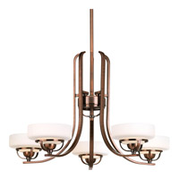 Progress Lighting Torque 5 Light Chandelier in Copper Bronze P4692-124WB