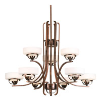 Progress Lighting Torque 9 Light Chandelier in Copper Bronze P4693-124WB