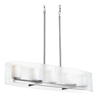 Progress Lighting Coupe 5 Light Linear Chandelier in Brushed Nickel P4694-09WB