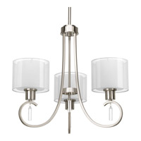 Progress Lighting Invite 3 Light Chandelier in Brushed Nickel P4695-09