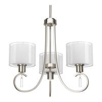 Progress P4695-09 Invite 3 Light 22 inch Brushed Nickel Chandelier Ceiling Light