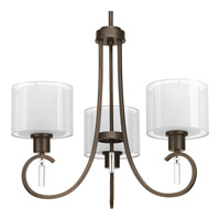 Progress Lighting Invite 3 Light Chandelier in Antique Bronze P4695-20