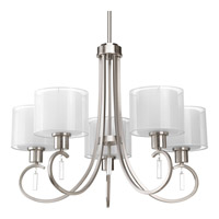 Progress Lighting Invite 5 Light Chandelier in Brushed Nickel P4696-09