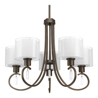Progress Lighting Invite 5 Light Chandelier in Antique Bronze P4696-20
