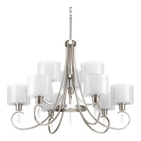 Progress Lighting Invite 9 Light Chandelier in Brushed Nickel P4697-09