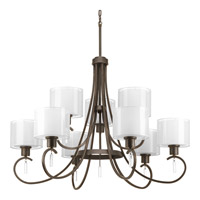 Progress Lighting Invite 9 Light Chandelier in Antique Bronze P4697-20