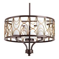 Progress P4699-20 Cirrine 3 Light 18 inch Antique Bronze Chandelier Ceiling Light
