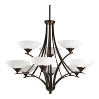 Progress Lighting Prosper 9 Light Chandelier in Antique Bronze P4703-20