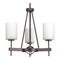 Progress Compass 3 Light Chandelier in Antique Bronze P4705-20