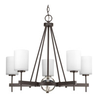 Progress Compass 5 Light Chandelier in Antique Bronze P4706-20