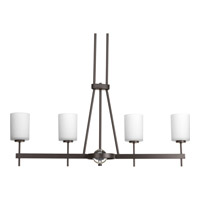 Progress Compass 4 Light Chandelier in Antique Bronze P4708-20