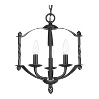 Progress Greyson 3 Light Chandelier in Black P4709-31