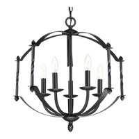 Progress Greyson 5 Light Chandelier in Black P4710-31
