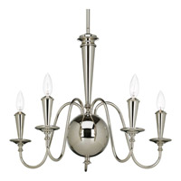 Identity 5 Light 24 inch Polished Nickel Chandelier Ceiling Light