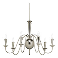 Progress Identity 7 Light Chandelier in Polished Nickel P4714-104