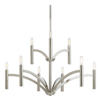 Progress Lighting Draper 9 Light Chandelier in Polished Nickel P4719-104