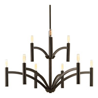 Progress Lighting Draper 9 Light Chandelier in Antique Bronze P4719-20