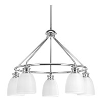 Progress P4722-15 Lucky 5 Light 25 inch Polished Chrome Chandelier Ceiling Light