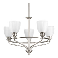 Lucky 5 Light 25 inch Brushed Nickel Chandelier Ceiling Light