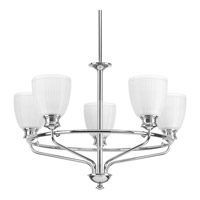 Progress P4723-15 Lucky 5 Light 25 inch Polished Chrome Chandelier Ceiling Light