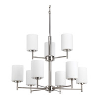Replay 9 Light 26 inch Polished Nickel Chandelier Ceiling Light