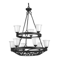 Progress P4731-71 Enclave 9 Light 35 inch Gilded Iron Chandelier Ceiling Light