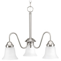 Classic 3 Light 20 inch Brushed Nickel Chandelier Ceiling Light