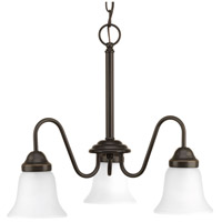 Progress P4732-20 Classic 3 Light 20 inch Antique Bronze Chandelier Ceiling Light