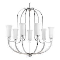 Elina 7 Light 32 inch Polished Nickel Chandelier Ceiling Light