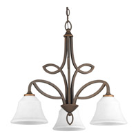 Monogram 3 Light 24 inch Roasted Java Chandelier Ceiling Light